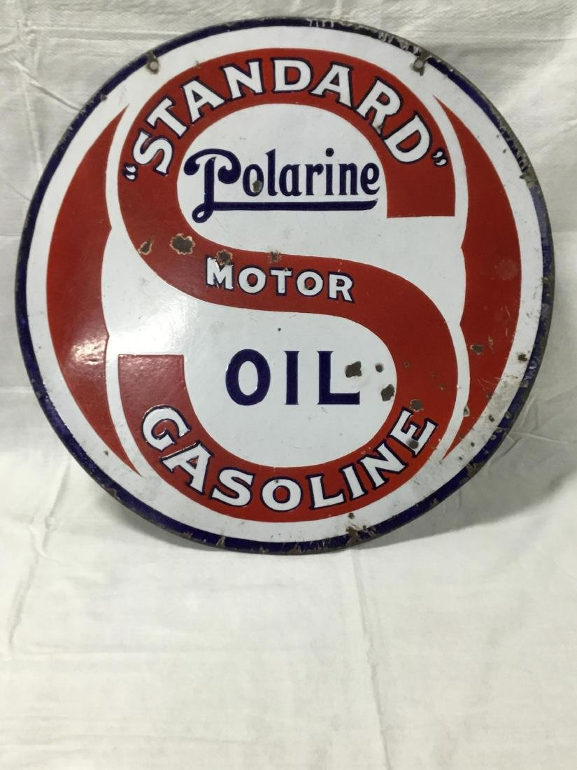 Standard Polarine Motor Oil Sign