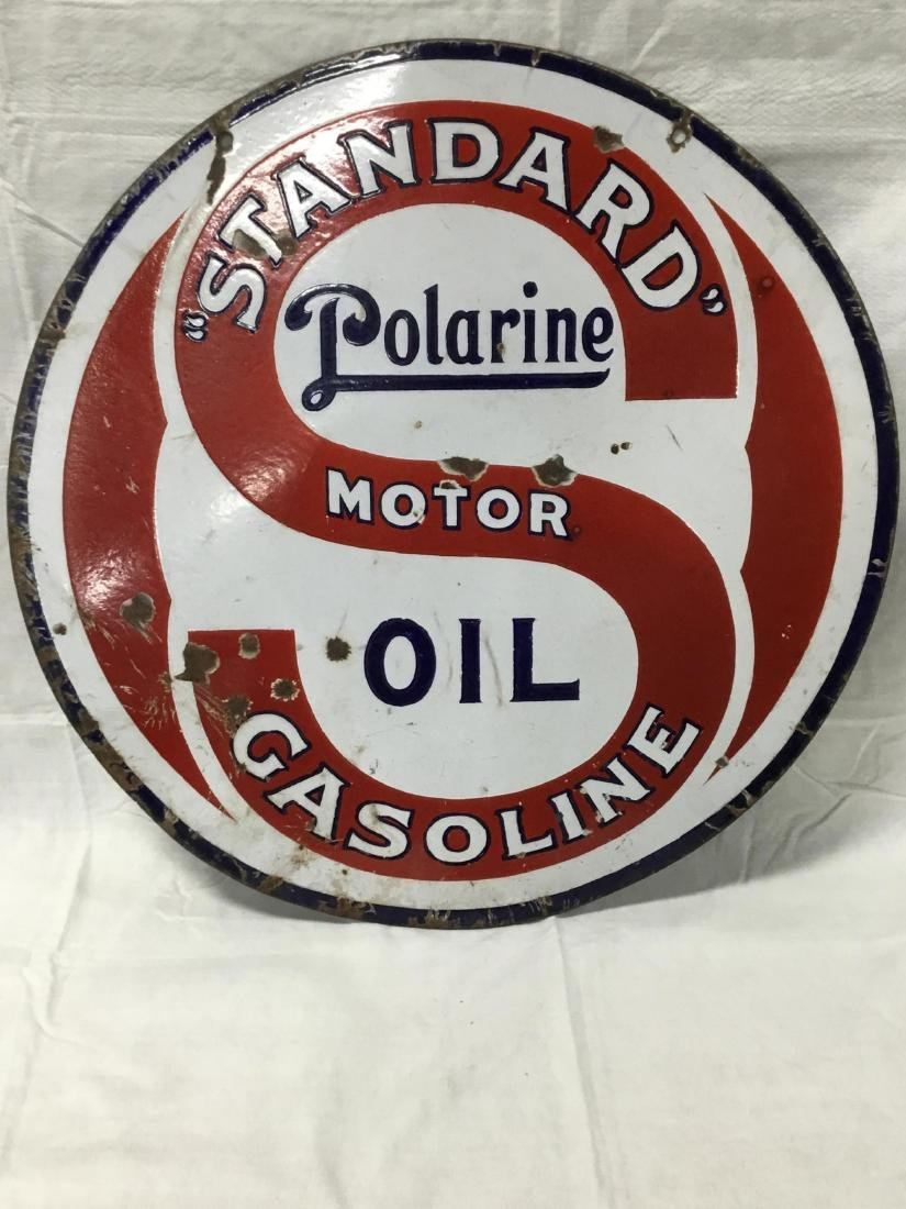 Standard Polarine Motor Oil Sign - 2