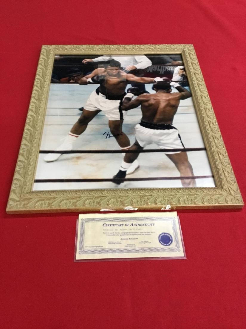 Autographed Photo of Muhammed Ali with COA