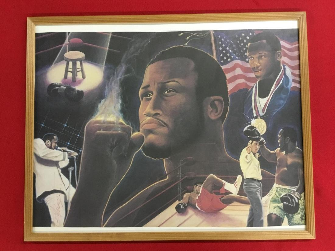 Autographed Litho of Joe Frazier