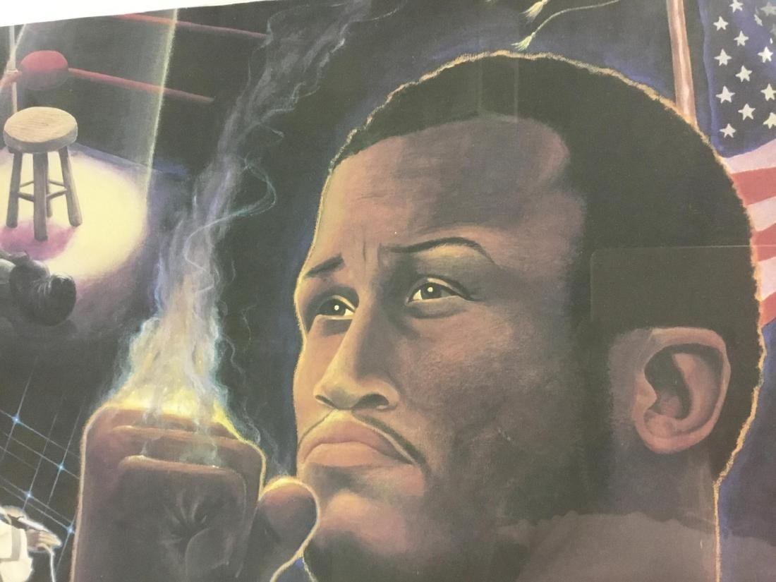 Autographed Litho of Joe Frazier - 3