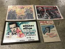 Lot of 4 Vintage Movie Theater Posters
