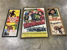 Lot of 3 Vintage Movie Theater Posters