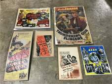 Lot of 6 Vintage Movie Theater Posters