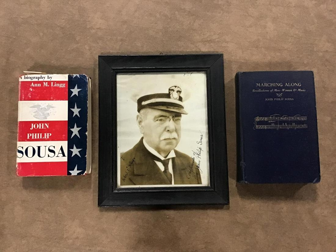 Autographed Photo of John Philips Sousa and 2 Books