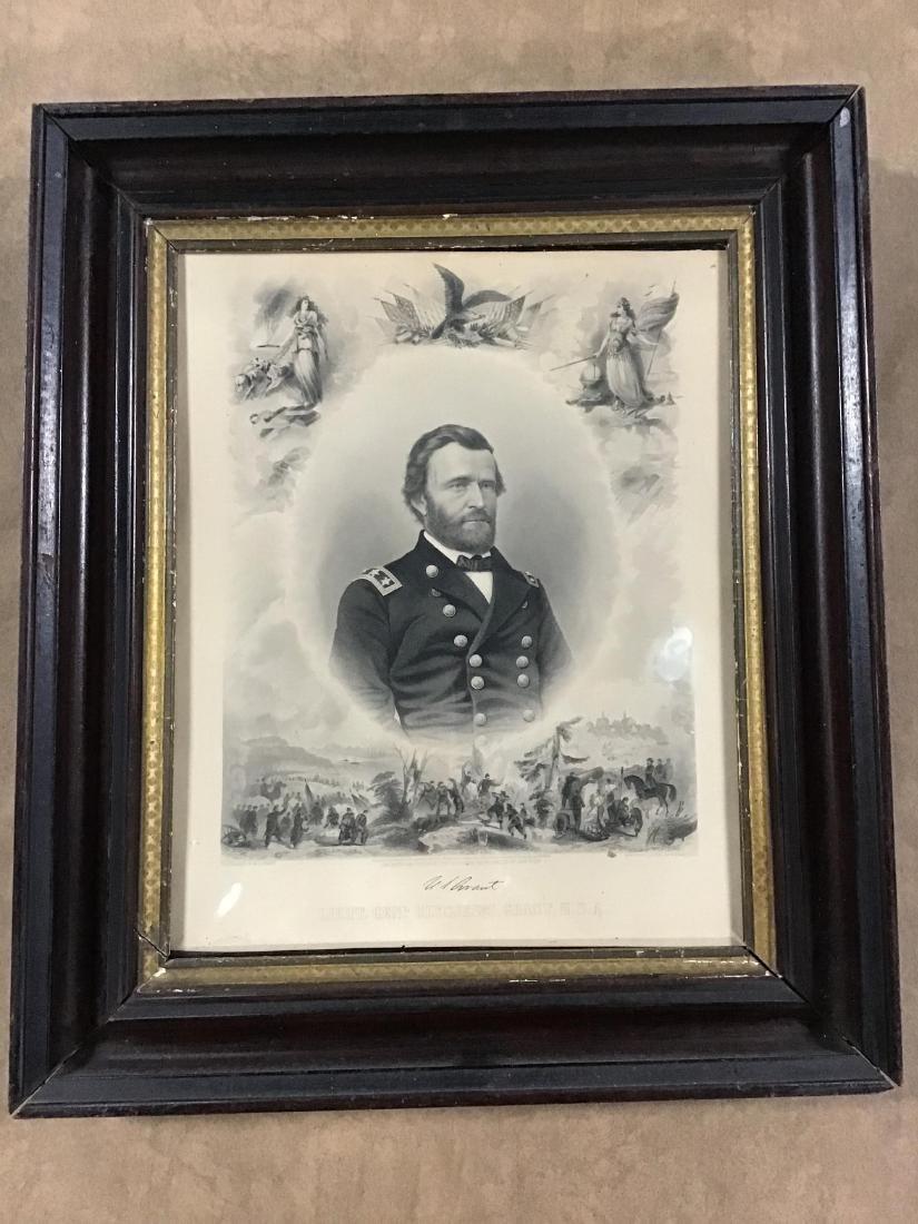 Framed Steel Engraving of Lieutenant General Ulysses S.