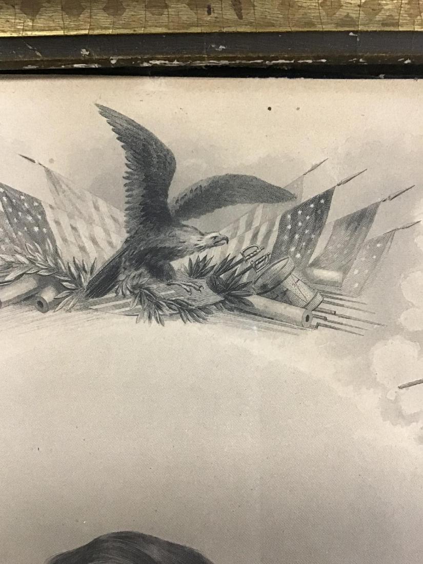 Framed Steel Engraving of Lieutenant General Ulysses S. - 3
