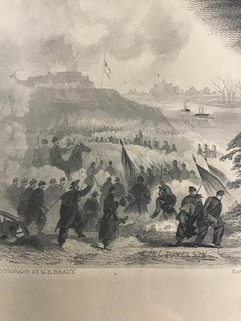 Framed Steel Engraving of Lieutenant General Ulysses S. - 6