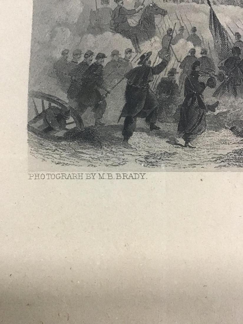Framed Steel Engraving of Lieutenant General Ulysses S. - 8