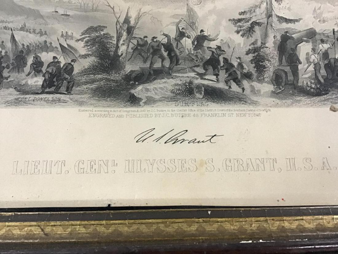 Framed Steel Engraving of Lieutenant General Ulysses S. - 9