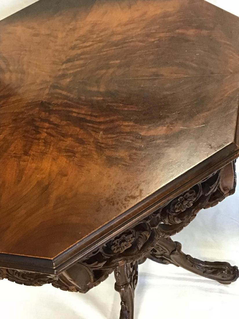 Heavily Carved Side Table - 2