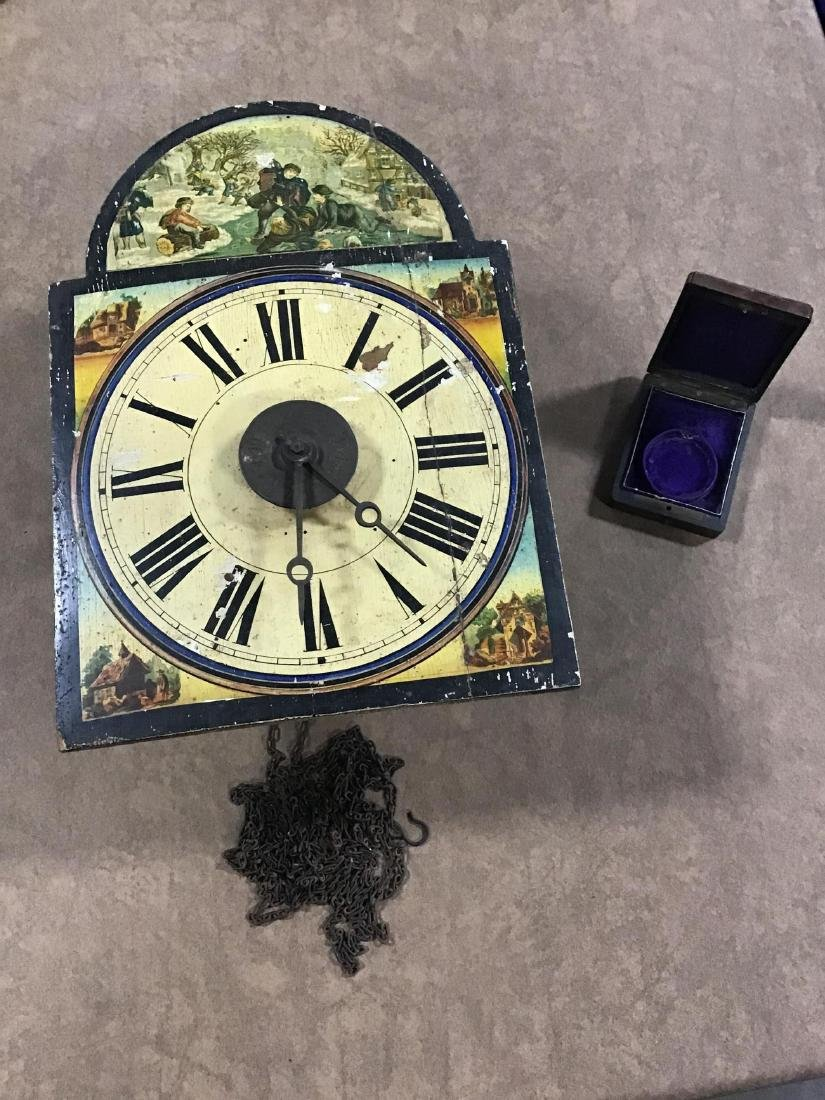 Case Clock Works and Pocket Watch Case