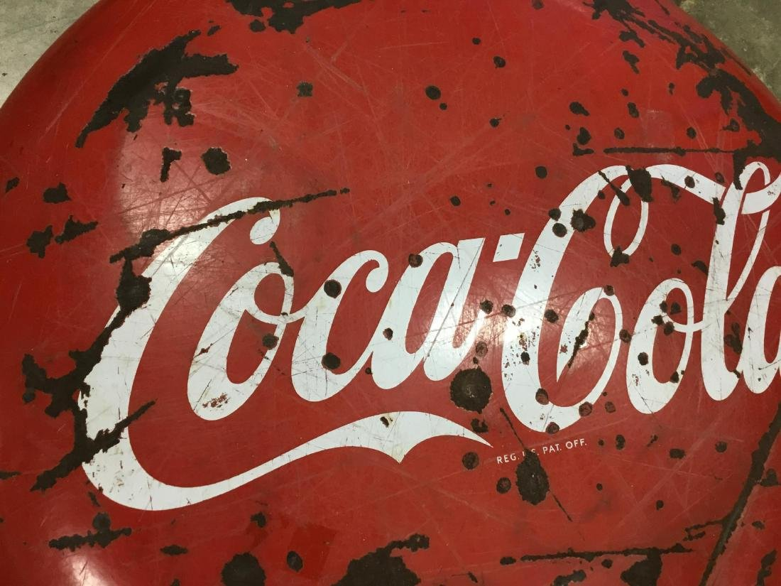 48 Inch Porcelain Coca Cola Button Sign - 2