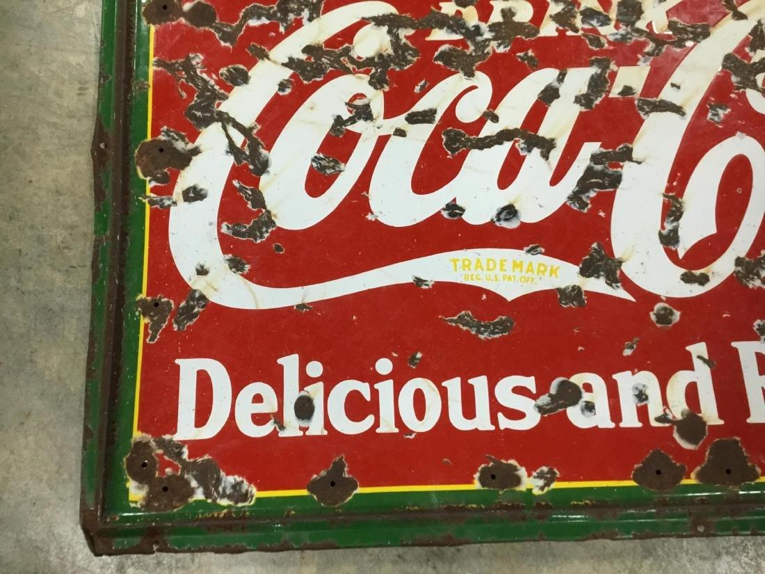 Original Porcelain Coca Cola Drug Store Sign - 2