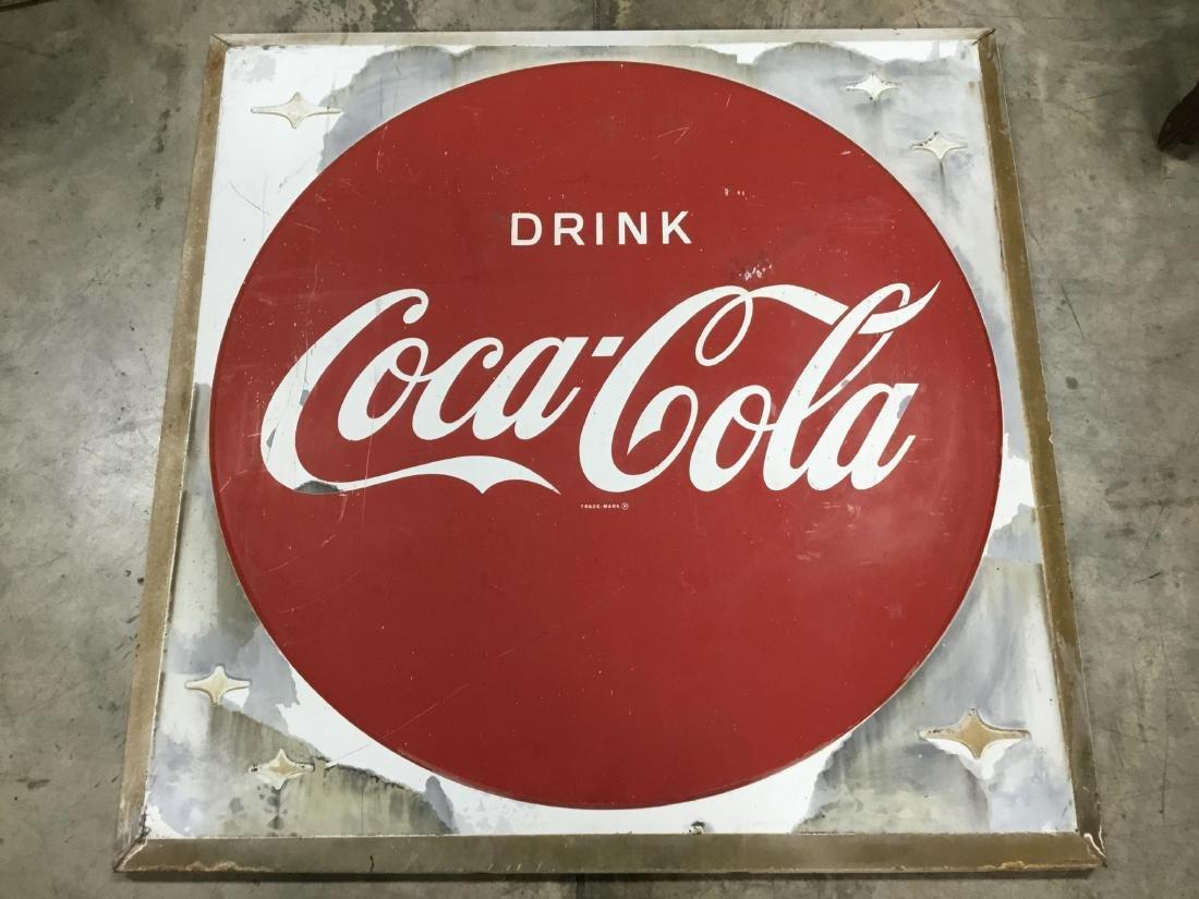 Drink Coca Cola Painted Metal Sign