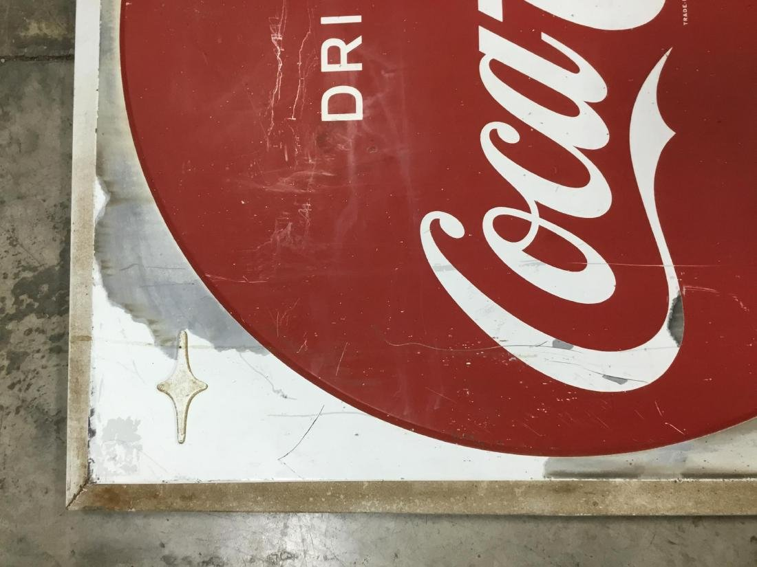 Drink Coca Cola Painted Metal Sign - 2