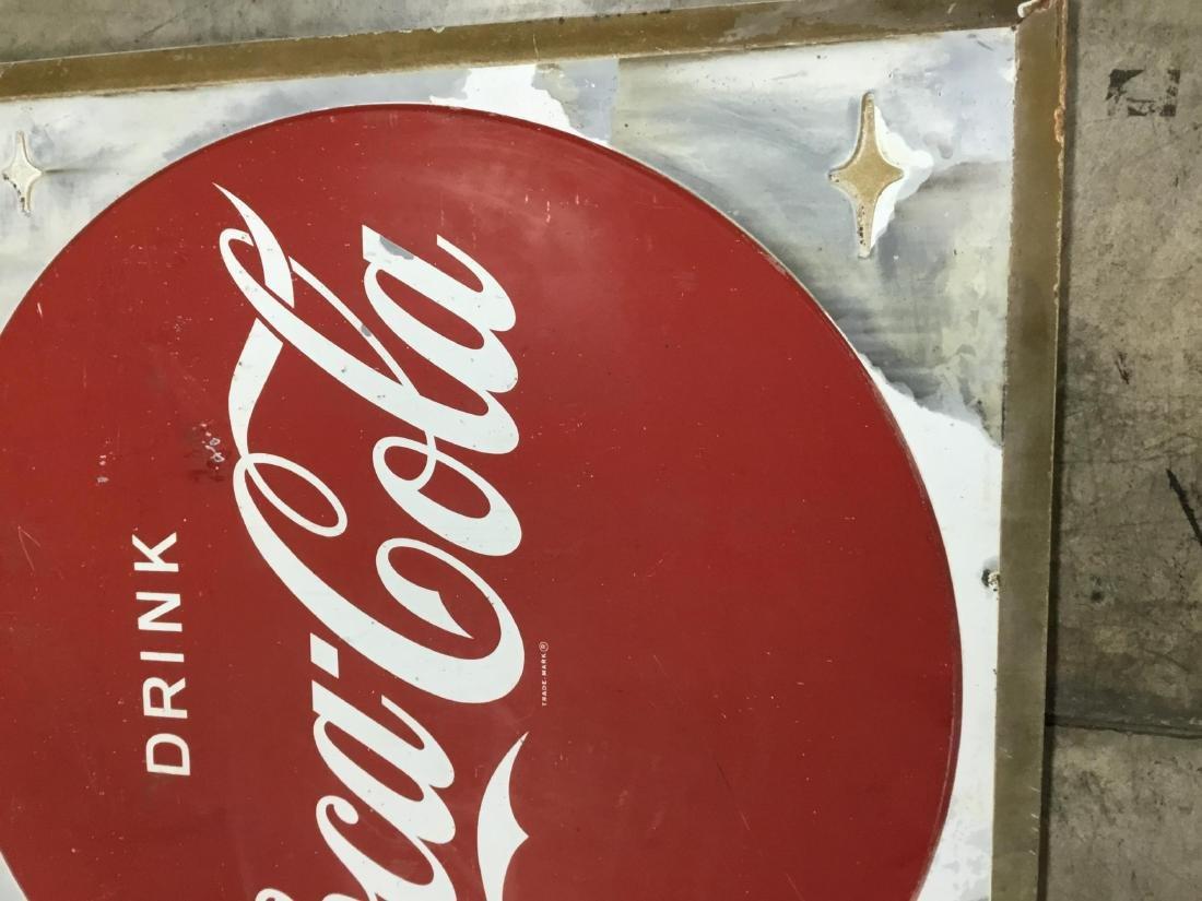 Drink Coca Cola Painted Metal Sign - 3