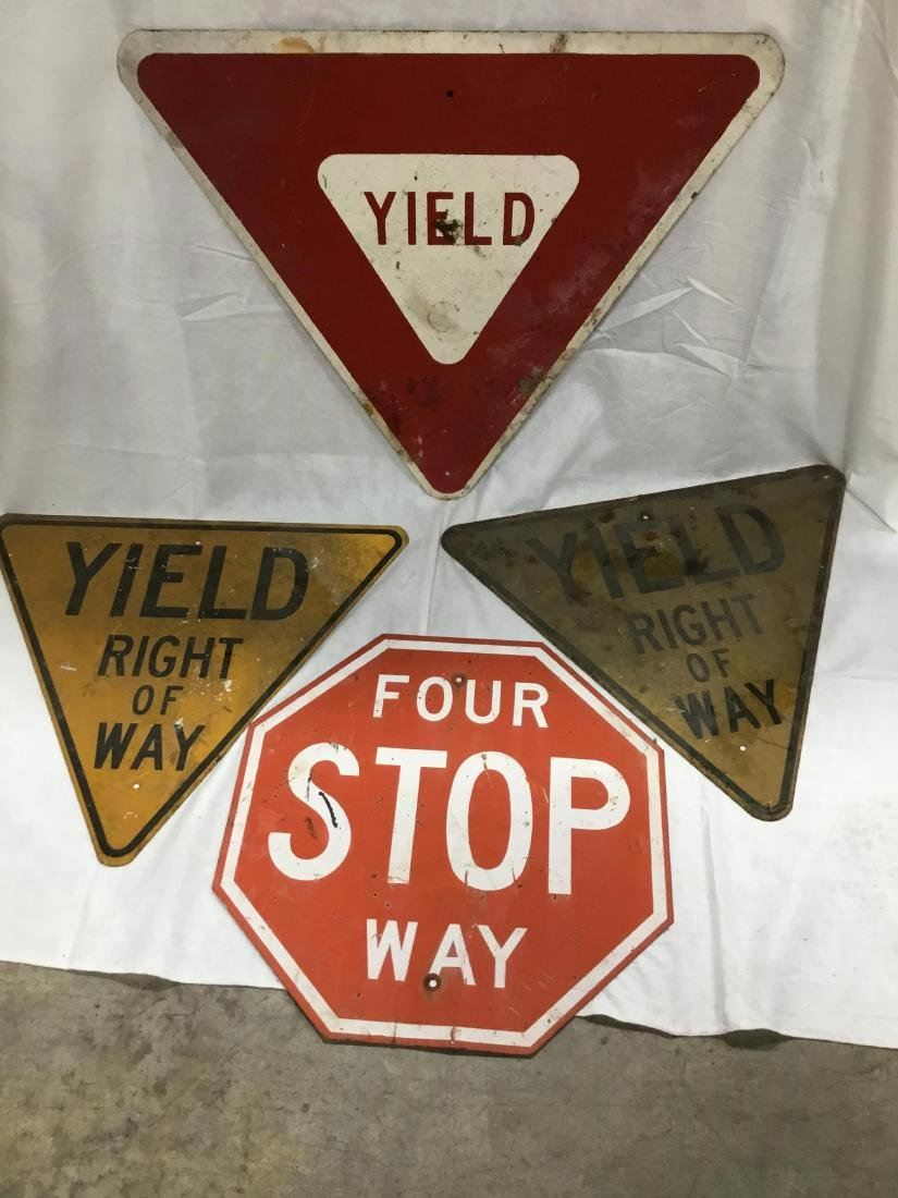 Lot of 4 Road Signs