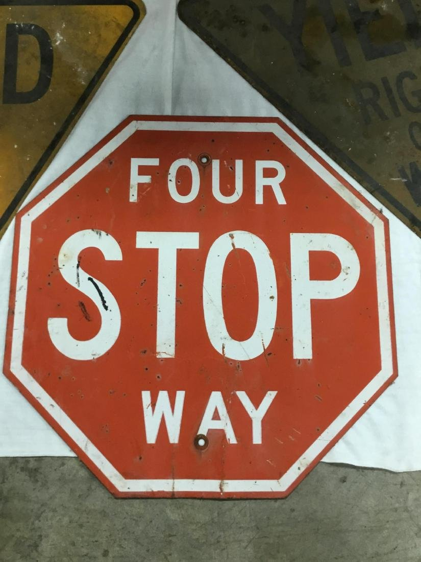 Lot of 4 Road Signs - 2