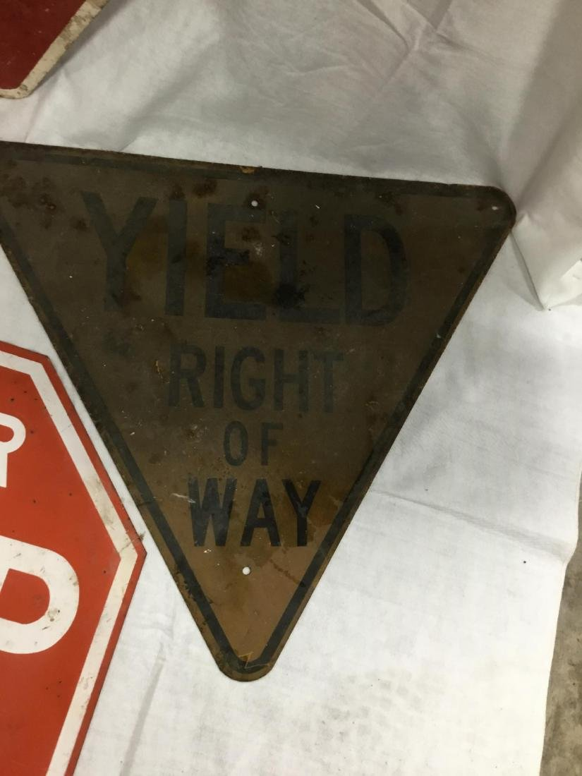 Lot of 4 Road Signs - 3