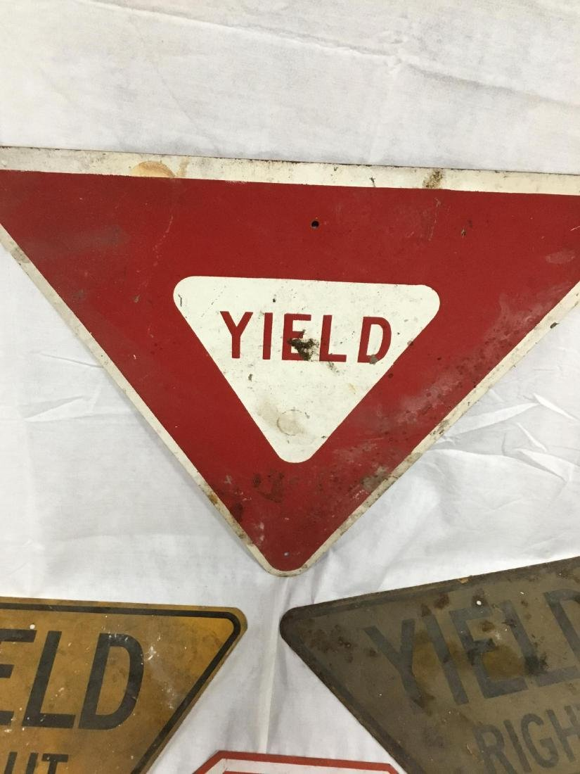 Lot of 4 Road Signs - 4