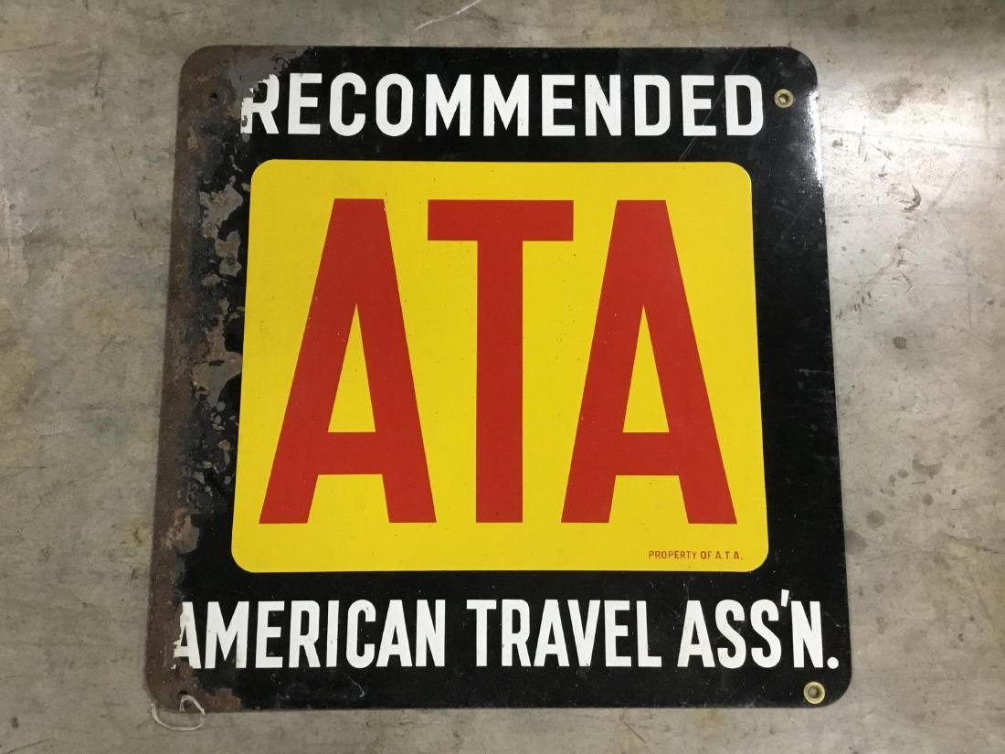 American Travel Association Double Sided Painted Metal