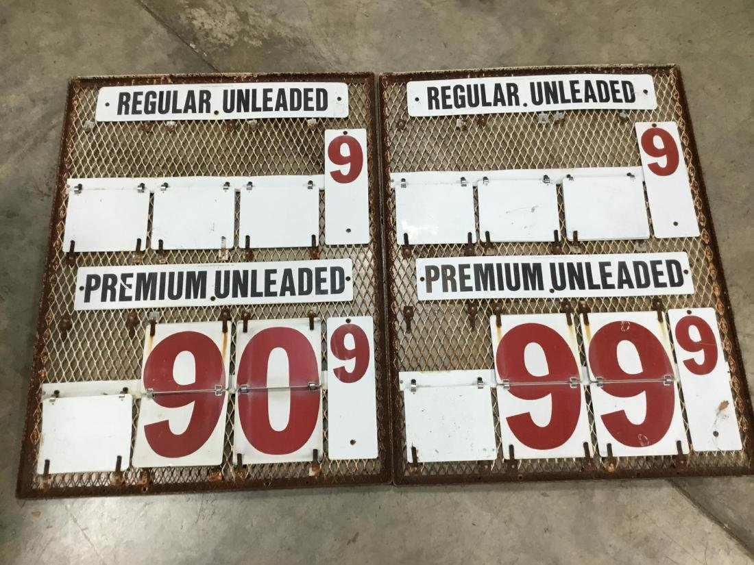 Pair Gas Station Gas Changeable Price Sign