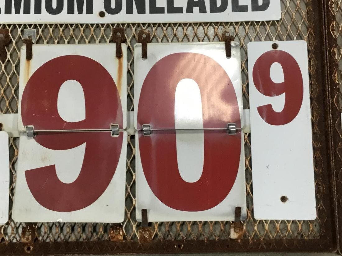 Pair Gas Station Gas Changeable Price Sign - 3