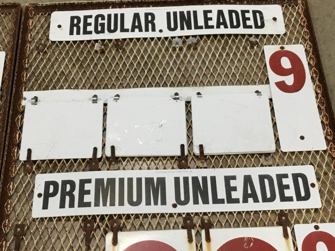 Pair Gas Station Gas Changeable Price Sign - 4