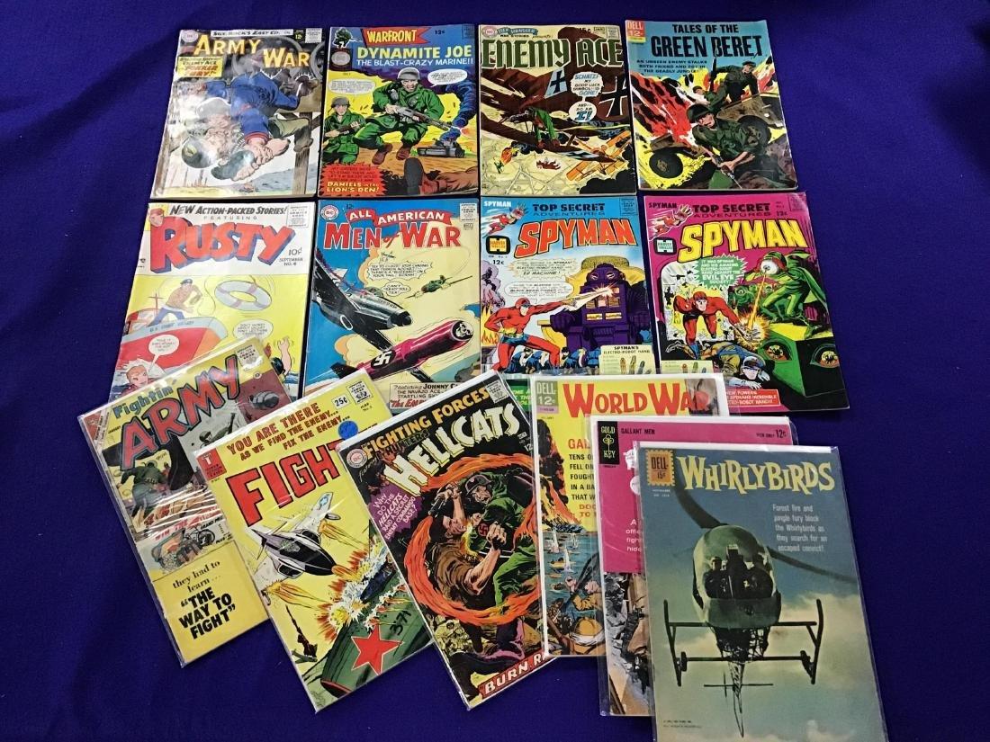 """Lot of 14 """"war"""" Comics"""