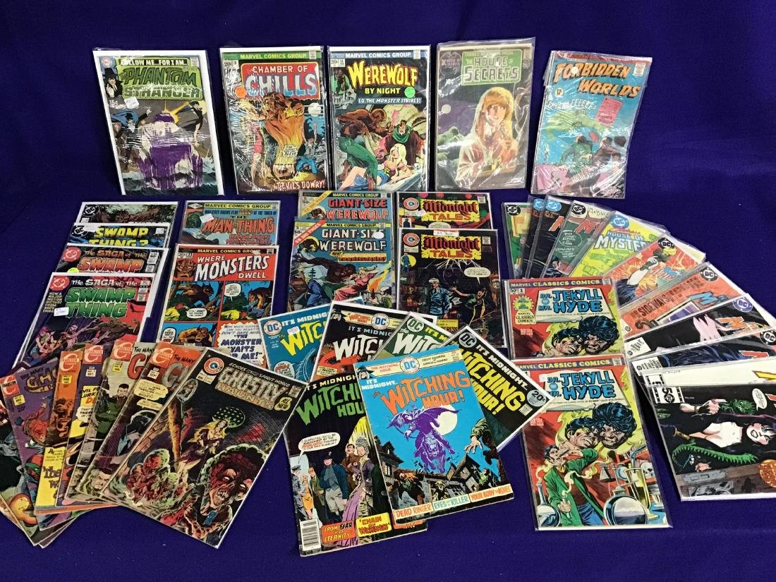 Lot of 44 Horror, Mystery Comics and others