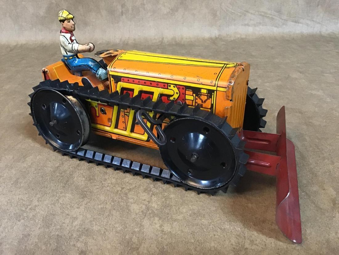 Vintage Marx Toy Tin Wind up Bulldozer