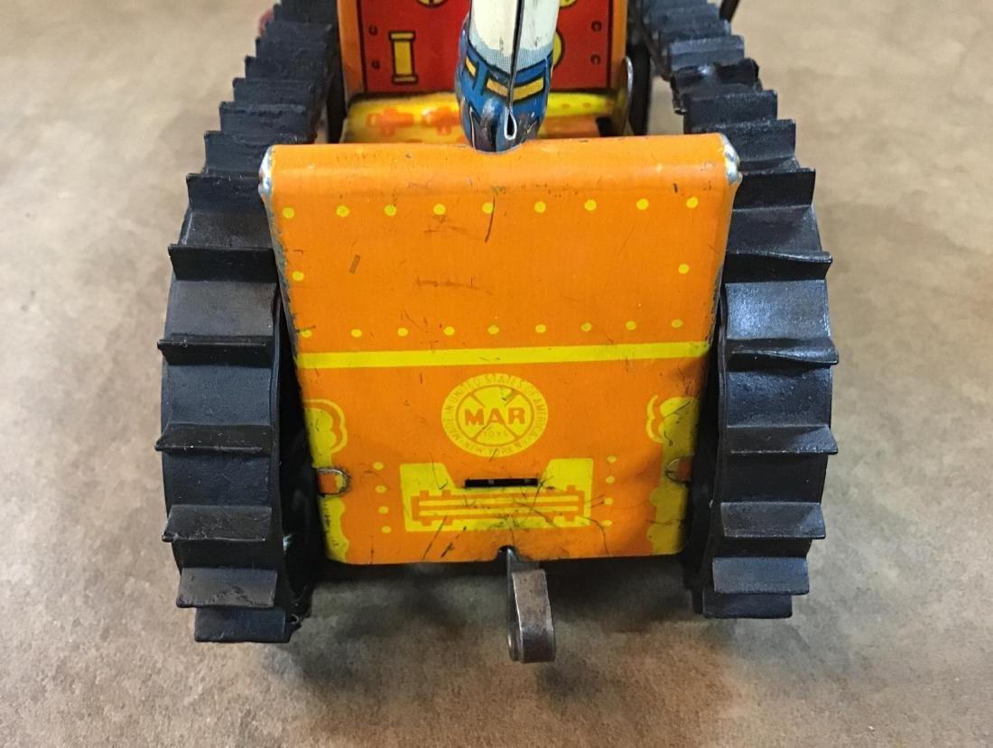 Vintage Marx Toy Tin Wind up Bulldozer - 4