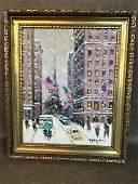 Trinity Church- Wall Street- Oil on Canvas