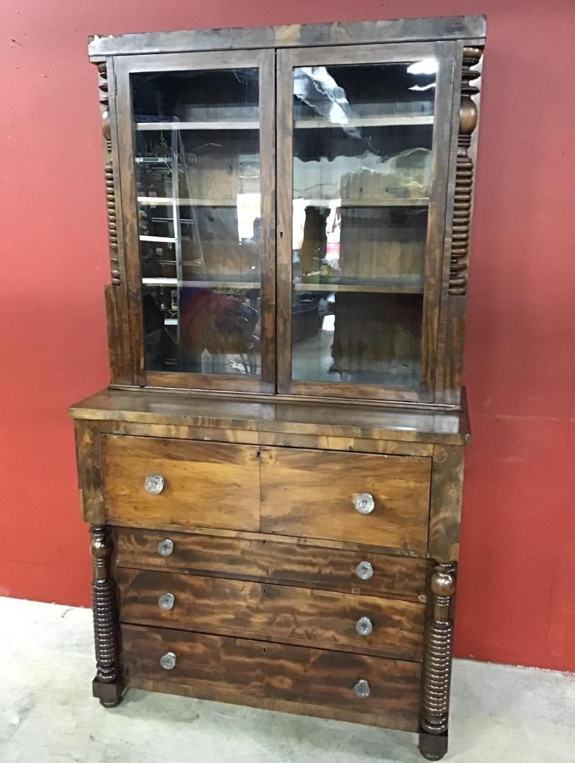 Walnut Butler's Bookcase/Desk circa 1860