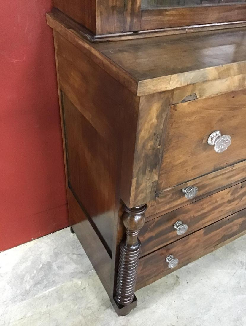 Walnut Butler's Bookcase/Desk circa 1860 - 6