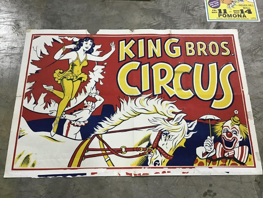 Lot of 7 Vintage and Newer Circus Posters - 3