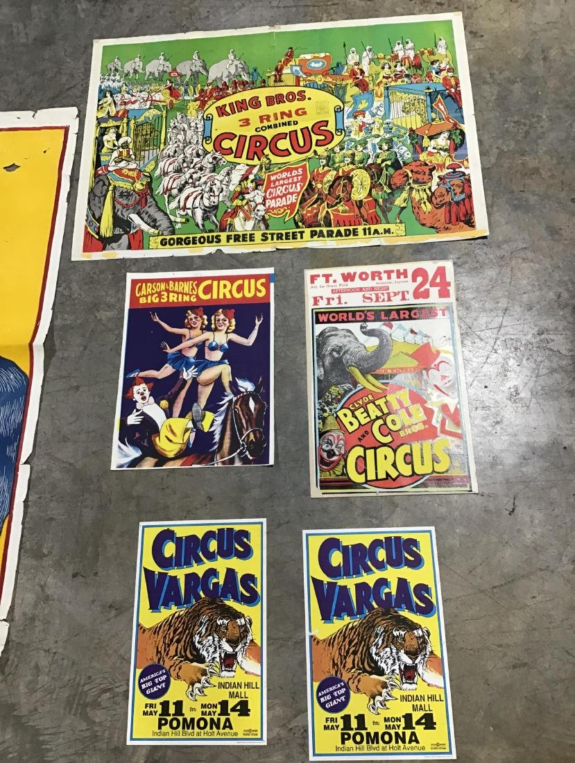 Lot of 7 Vintage and Newer Circus Posters - 4