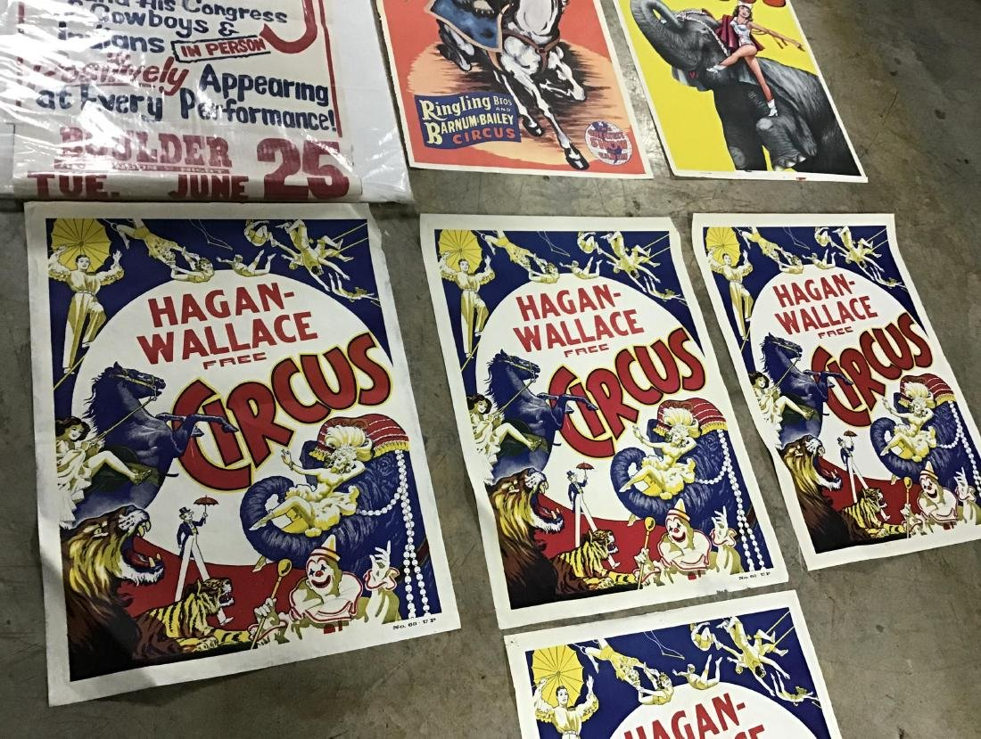 Lot of 7 vintage circus posters - 3