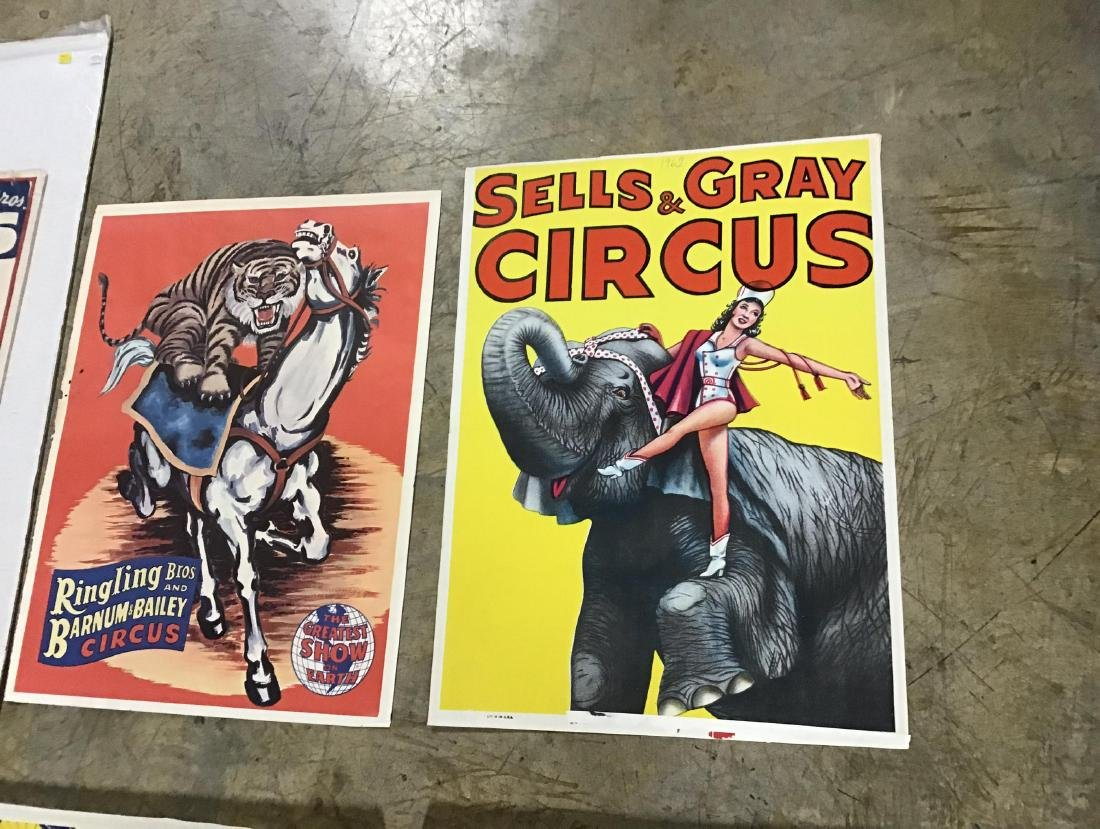 Lot of 7 vintage circus posters - 4