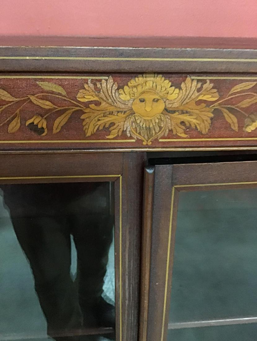 Beautiful Mahogany Inlaid Bookcase - 2