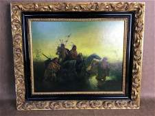 18-19 C. American Indian Painting on Panel