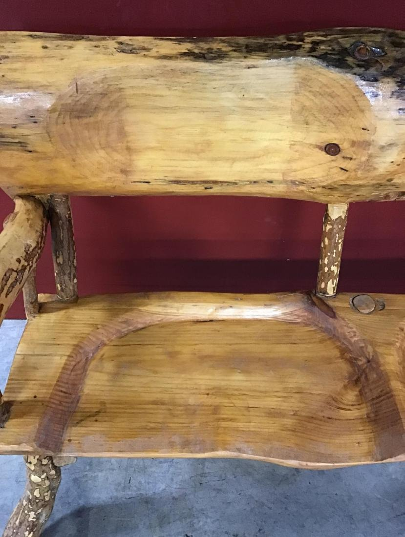 Hand Crafted Pine Bench - 2