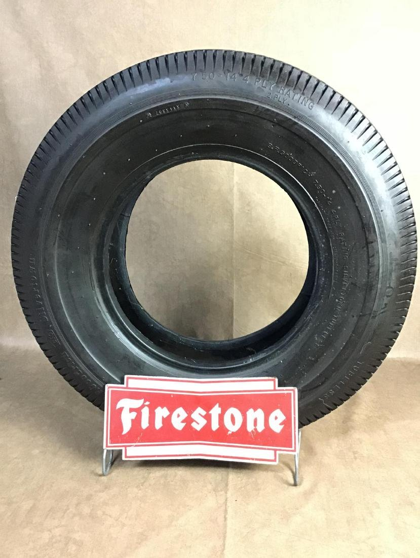 Firestone Advertising Tire Stand