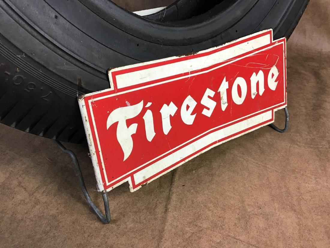 Firestone Advertising Tire Stand - 3