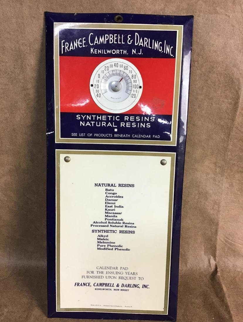 France, Campbell & Darling, Inc. Thermometer