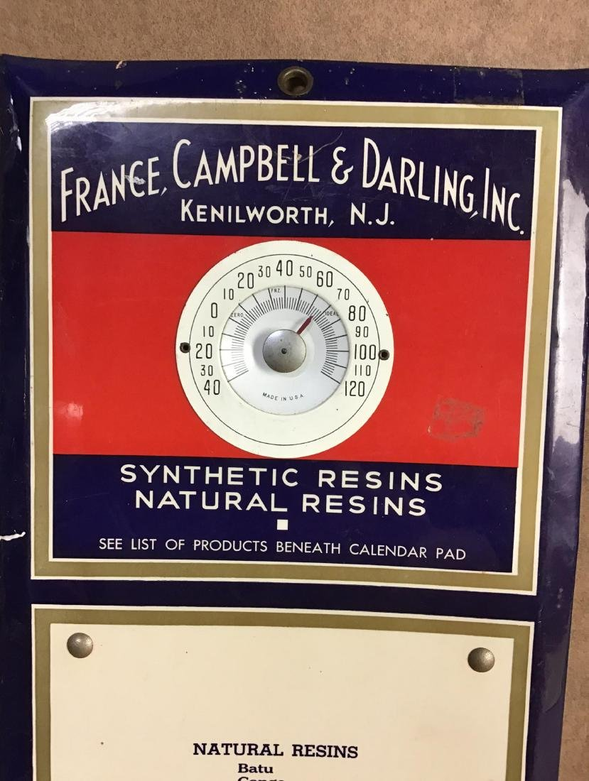 France, Campbell & Darling, Inc. Thermometer - 2