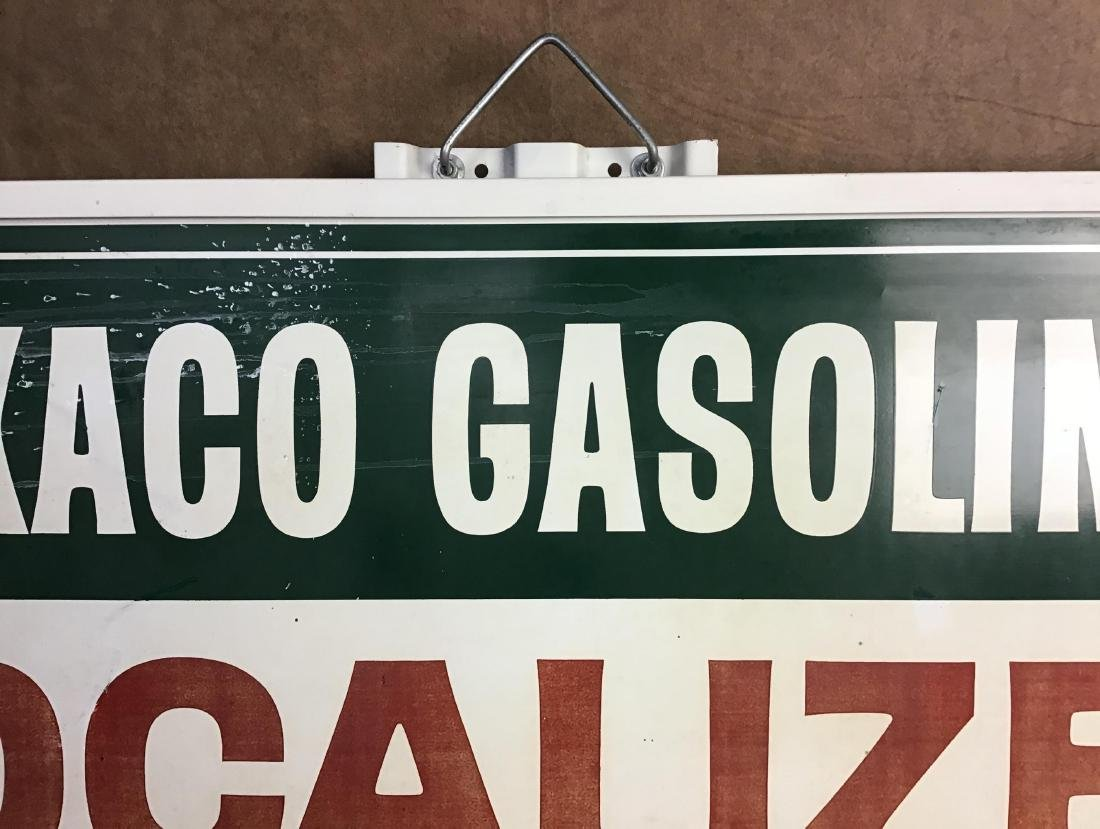 Texaco Gasolines Painted Metal Sign - 3