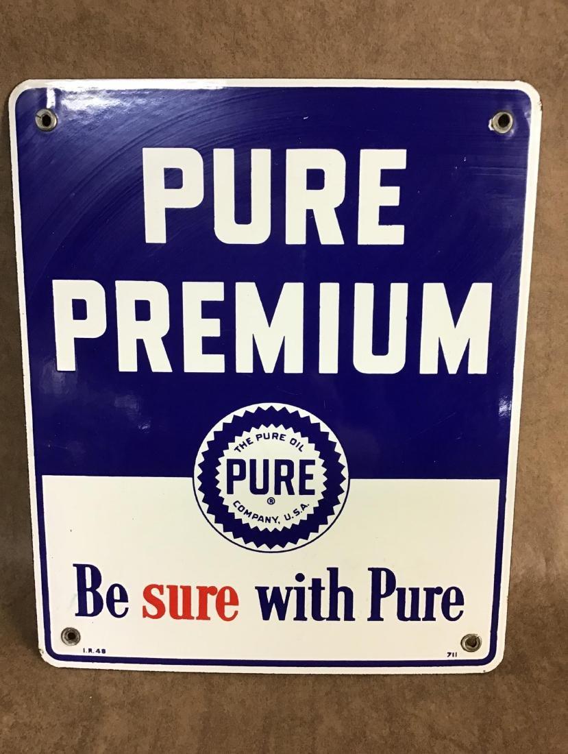 Pure Premium Porcelain Gas Pump Plate