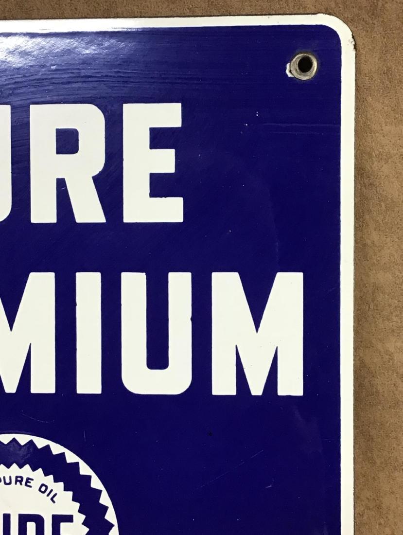 Pure Premium Porcelain Gas Pump Plate - 3